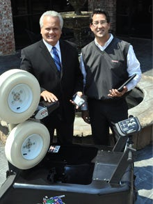 FungoMan founders Denny Duron (left) and Romy Cucjen (right).