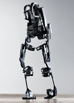 One small step for a man: Ekso Bionics' suit helps paraplegics walk again.
