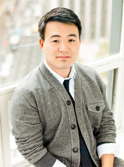 Practicing girth control: Fitbit's James Park.