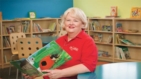 Booked: Nancy Herrington will target literacy.