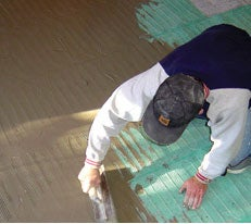 A radiant floor heating system gets installed