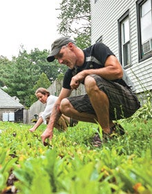 City food: Eric Stoffer and Annabel Khouri of Bay Branch Farm.