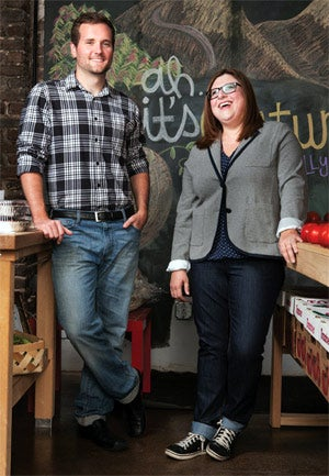 Earning their keep: Freshfully's Sam Brasseale and Jen Barnett.