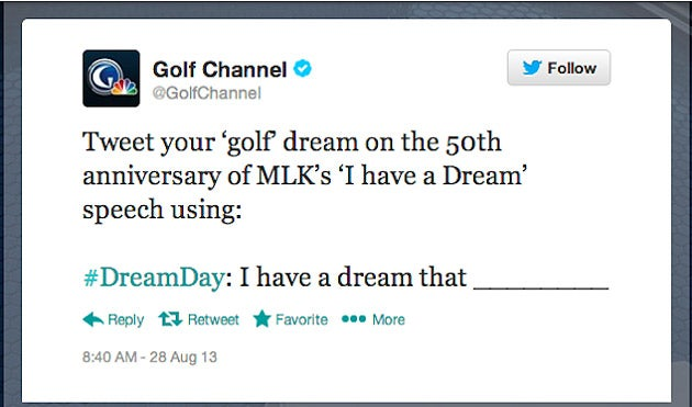 What You Can Learn from the Golf Channel?EUR(TM)s MLK Speech Twitter Slip-up