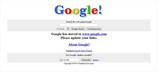 This Is What Google Looked Like in 1998