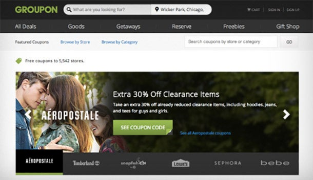 Groupon Moves Deeper in the Discount Space With 'Freebies'