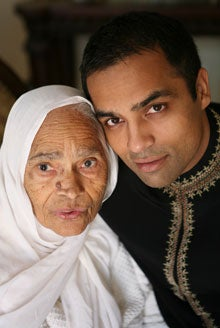 Gurbaksh Chahal pictured with his grandmother, Bibi Surjit Kaur, in 2008.