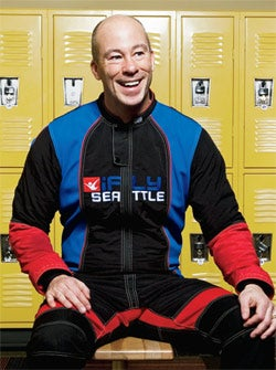 On top of the world: Bill Adams of Ifly.