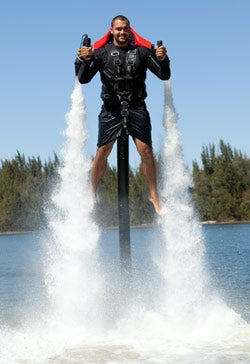 Under pressure: JetLev instructor Richard Santiago.