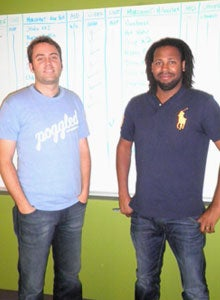 Poggled founders Joe Matthews (left) and Sean Strother at the company's Chicago offices.