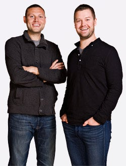 Racing ahead: Joe Reynolds (left) and Ryan Kunkel, founders of Red Frog Events.