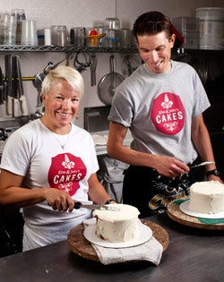 Plays well with others: Jake Rosenbarger of Kim and Jake's Cakes.
