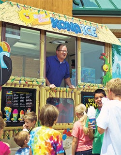 Rain or shine: Tony Lamb's Kona Ice mobile franchise thrives all year long.