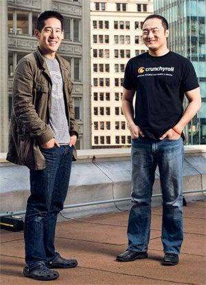 Kun Gao, CEO of Crunchyroll, protégé and Eric Feng, former Hulu CTO, mentor