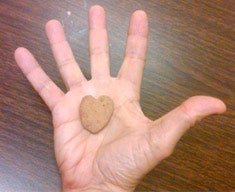 Staying Grounded: Jim Koch carries this heart-shaped rock his daughter gave him wherever he travels.