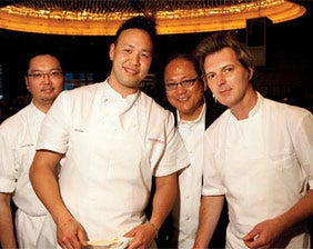 Iron Chef Masaharu Morimoto (third from left) and his team.