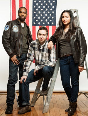 United front: (from left) Matthew Burnett, Scott Weiner and Tanya Menendez of Maker's Row.