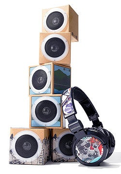 Listen up: OrigAudio's Fold and Play Recycled Speakers and Designears.