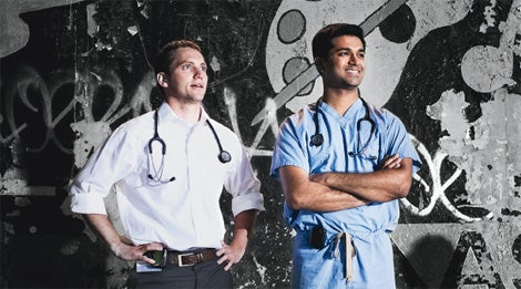 Social Health: Brad Weinberg, left, and Rajiv Kumar.