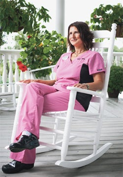 Dawn Costanzo: A nurse for real now.