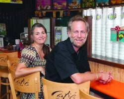 Tropical Smoothie Cafe owners Rich and Paula Studebaker.