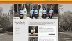 Round Pond Estate winery website, interior after