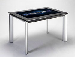 An example of the Microsoft Surface 'smart' table