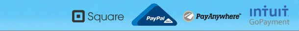 Square - Paypal Here - Pay Anywhere - Intuit GoPayment