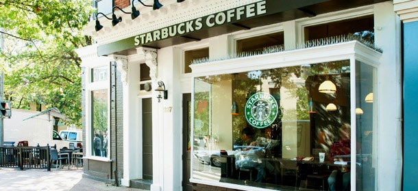 Creating connections through coffee: A Washington, D.C., Starbucks.