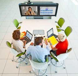 The Steelcase media:scape table and teleconferencing tool