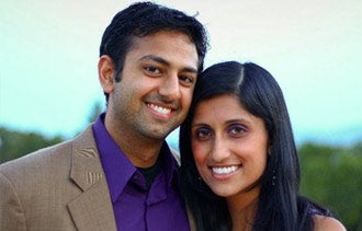 Pramod Dabir and the inspiration for Boutine, his wife.