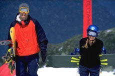 Alain Chuard and Victoria Ransom on the slopes in Whistler, B.C.