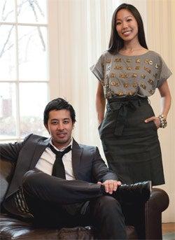 Matching styles: Fashionstake's Daniel Gulati and Vivian Weng.