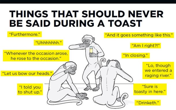 Things that should never be said during a toast