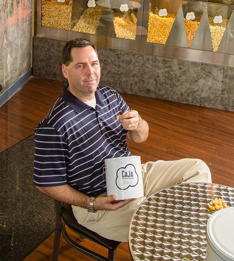 Keeping up with the comments: Kevin Peak of CaJa Popcorn.