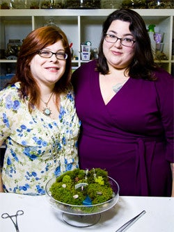 Twig Terrariums' Katy Maslow (right) and Michelle Inciarrano.