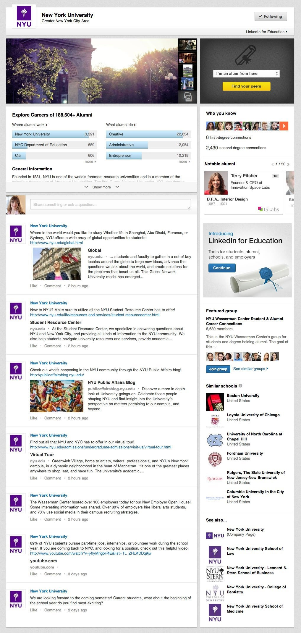 With Its Eye on High Schoolers, LinkedIn Announces University Pages