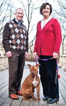 For the dogs: David Rosen and Linda Rhodes of Aratana.