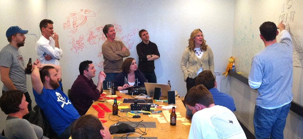 XPLANE employees collaborate during the company's Visual Thinking School.