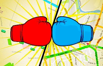 Apple vs Google Maps Battle Revs Up Local Search Options