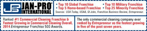 Jan-Pro's franchise business rankings from Entrepreneur
