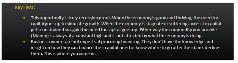 Commercial Capital Training Group - Recession Proof information