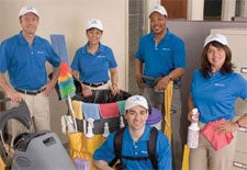 Team workers at a Jan-Pro franchise business