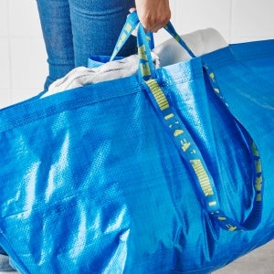 This New $2,145 Handbag Looks Oddly Similar to Ikea's 99 Cent Shopping Bag