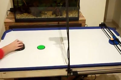 Hacker Dad Rigs Air Hockey Robot from 3-D Printer Parts