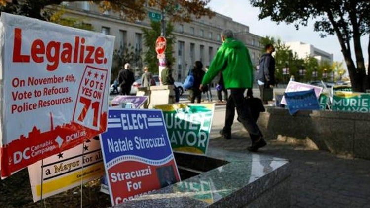 Voters Approve Legal Marijuana in Oregon, Alaska and D.C.