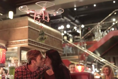 TGI Fridays Is Putting 'Mistletoe Drones' in Restaurants