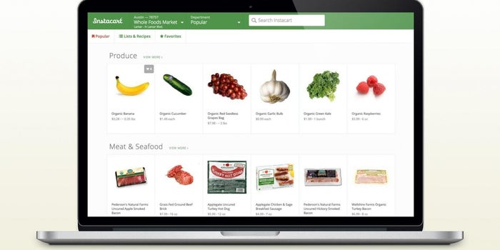 Grocery Delivery Startup Instacart Reportedly Raises $220 Million