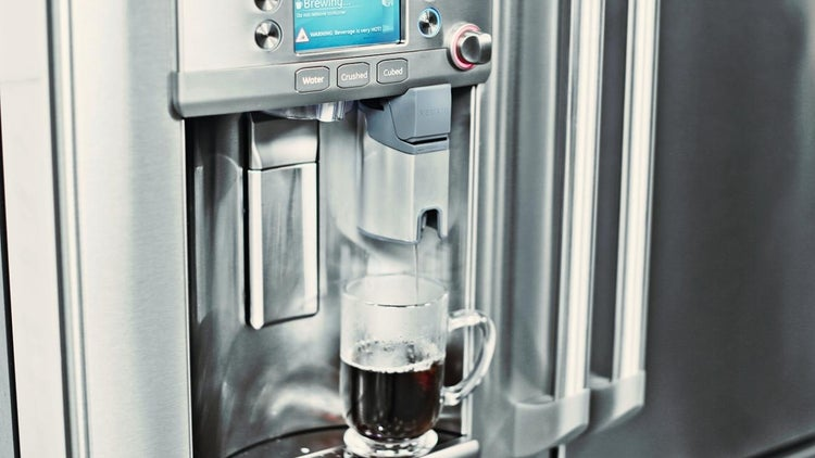 GE Reveals a Fridge That Serves Up Piping Hot Coffee