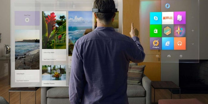 Microsoft Pushes Toward Virtual Reality With Hologram Headset